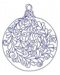 Christmas ball machine embroidery design 4