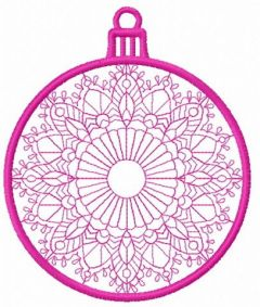Christmas ball machine embroidery design 5
