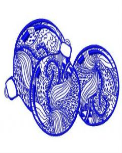Christmas balls machine embroidery design 3