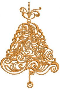 Christmas bell 3 embroidery design