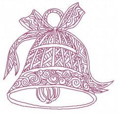 Christmas bell 4 embroidery design