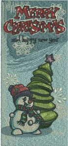 Christmas bookmark 6 embroidery design