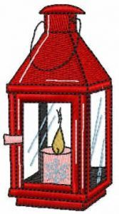 Small Christmas candle free embroidery design