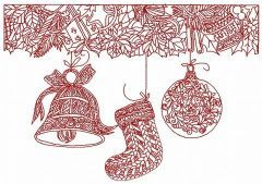 Christmas decorations 6 embroidery design