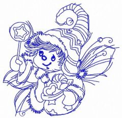 Christmas elf 3 embroidery design