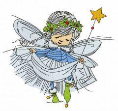 Christmas fairy 2 embroidery design