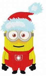 Christmas Minion 3 embroidery design
