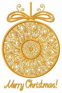 Christmas openwork ball embroidery design