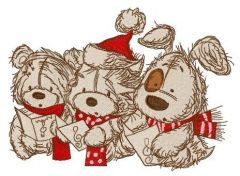 Christmas songs 6 embroidery design