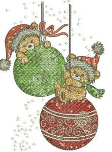 Christmas swings embroidery design