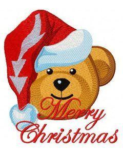 Christmas teddy bear 2 embroidery design