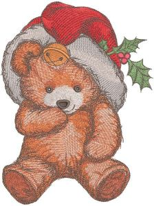Christmas teddy toy embroidery design