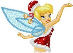 Christmas Tinkerbell embroidery design