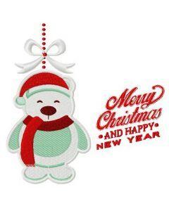 Christmas toy polar bear 2 embroidery design