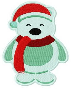 Christmas toy polar bear 4 embroidery design