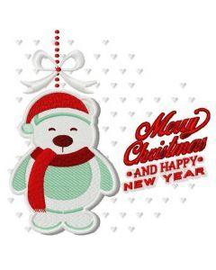Christmas toy polar bear embroidery design
