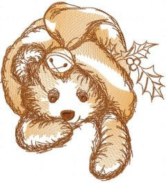 Christmas toy sketch embroidery design