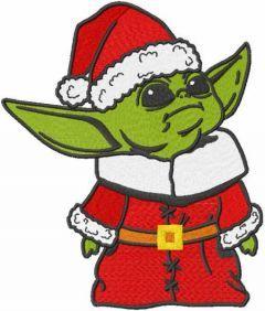 Christmas Yoda embroidery design