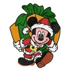 Christmas Mickey Mouse 1 embroidery design