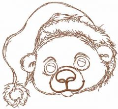 Chrsitmas teddy bear embroidery design