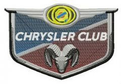 Chrysler group embroidery design