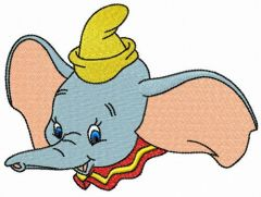 Circus artist Dumbo embroidery design