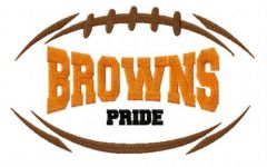 Cleveland Browns fan logo embroidery design