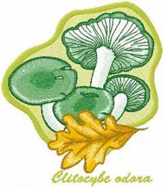 Clitocybe odora embroidery design