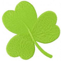 Clover leaf embroidery design