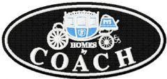 Coach logo embroidery design