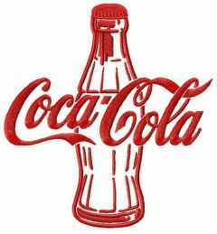 Coca-Cola bottle embroidery design