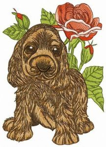 Cocker Spaniel puppy 2 embroidery design