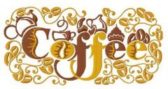 Coffee 3 embroidery design