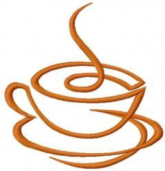 Coffee cup 19 embroidery design