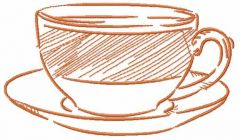 Coffee cup 20 embroidery design
