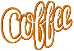 Coffee 8 embroidery design