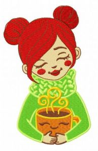 Coffee time 3 embroidery design