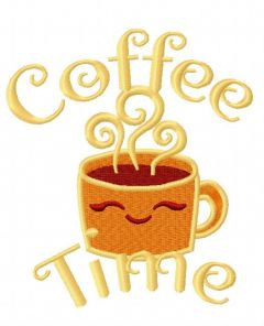 Coffee time 4 embroidery design