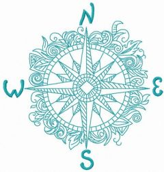 Compass 2 embroidery design