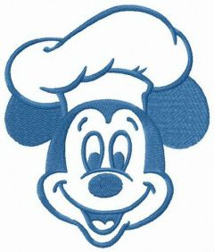 Cook Mickey embroidery design