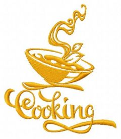 Cooking 3 embroidery design