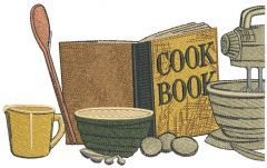 Cooking set embroidery design