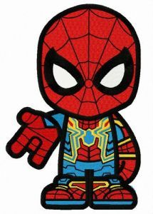 Cool Spiderman teen embroidery design
