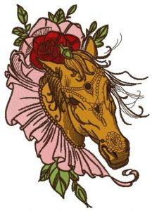 Coquette horse 3 embroidery design