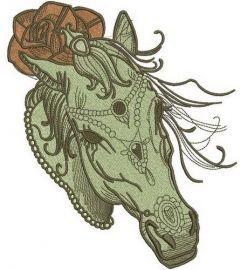 Coquette horse 4 embroidery design