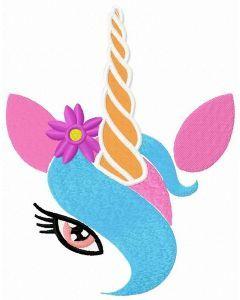 Coquette unicorn embroidery design