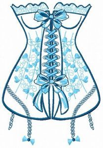Corset 2 embroidery design