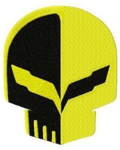 Corvette racing logo embroidery design 2