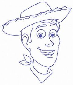 Cowboy from Toy Story embroidery design