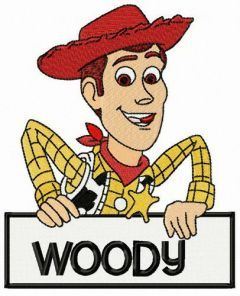 Cowboy Woody embroidery design